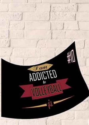 Addicted to Volleyball Frotteetuch mit deinen Initialen & Nr.