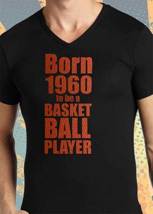 Born2be a Basketball PLAYER Shirt mit Geburtsjahr!